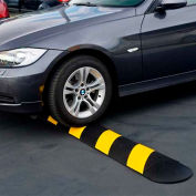 "GNR® Easy Rider® Yellow-Striped Parking Lot Speed Bump - 48""L"