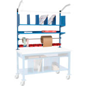 """Global Industrial™ Upright Kit For Packing Workbench, 60""""W, Blue"""