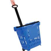 Rouleau en plastique Shopping panier bleu, qté par paquet : 10