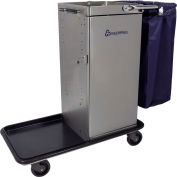 Genesis™ Stainless Steel Housekeeping Cart W/ Self Locking Door