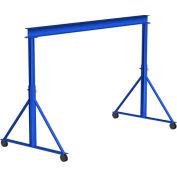 Portique en acier Gorbel®, durée 15' & 9' - 12' réglable en hauteur, capacité de 2 0 lb