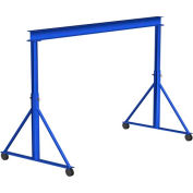 Portique en acier Gorbel®, durée 25' & 15' - 18' réglable en hauteur, capacité de 2 0 lb
