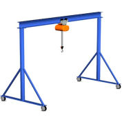 Gorbel® Steel Gantry Crane, 15' Span & 15' Fixed Height, 2000 Lb. Capacity