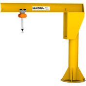Gorbel® HD gratuit permanent Jib Crane, 9' Span & 12' hauteur sous poutre, 2000 Lb capacité
