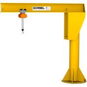 Gorbel® HD gratuit permanent Jib Crane, 12' Span & 11' hauteur sous poutre, 3000 Lb capacité