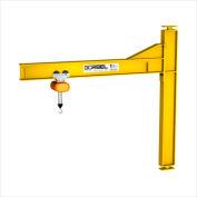 Gorbel® HD mât Type Jib Crane, 20' Span & 16' OAH, Drop Cantilever, Cap 500 Lb