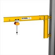 Gorbel® HD mur Cantilever Jib Crane, 8' Span & 200° Rotation, 4000 Lb capacité