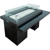 Hiland Propane Fire Pit GSF-RFP - 40,000 BTU Two-Tier Glass Table