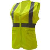GSS Safety 7803, Class 2, Ladies Hi-Vis Safety Vest, Lime, 4XL/5XL
