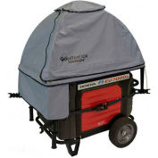 GenTent Running Cover, ZKU Kit, Extreme Edition, 3000W and Up Inverter Generators, Grey