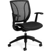 Global™ Mesh dos ergonomique chaise - tissu - noir - Roma série