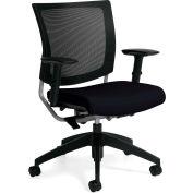 Global™ Mesh Back-Office chaise avec bras - tissu - milieu dos - charbon - Graphic Series