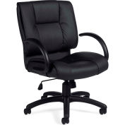 Bureaux à Go™ chaise de bureau avec bras - Luxhide - noir