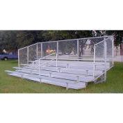 5 rangs de gradins en aluminium GTG avec Mid-allée & Guard Rail, 27', large, Double lit