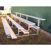 4 Row National Rep Tip and Roll Aluminum Bleacher, 9' Wide, Single Footboard