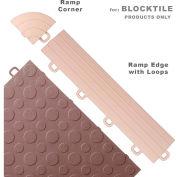 Block Tile R1US5112 Ramp Edges W/Loops, PP Edges Pattern, Beige