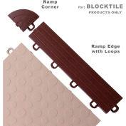 Block Tile R1US5212 Ramp Edges W/Loops, PP Edges Pattern, Brown