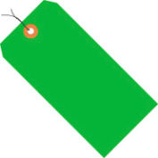 """#6 Green Fluorescent Wired Tag Pack 5-1/4"""" x 2-5/8"""" - 1000 Pack"""