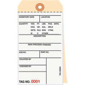 "Inventory Tags 2 Part Carbonless #8, 6-1/4"" x 3-1/8"", 0000 - 0499, 500 Pack"