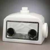 Système de boîte à gants Portable Bel-Art H50028-2000, avec 1 paire de gants & anneaux de serrage, aucun port de gaz
