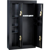 "Homak 8-Gun Double Door Steel Security Gun Safe HS30136028 - 32"" x 10"" x 57"", Black"