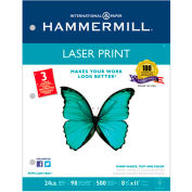 "Laser Copy Paper 3 Hole Punched - Hammermill 107681 - White - 8-1/2"" x 11"" - 24 lb. - 500 Sheets"
