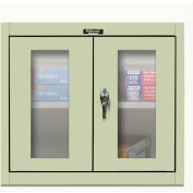 Hallowell 405-3026SVA 400 Series Safety-View Door Wall Mount Cabinet,30x12x26,Parchment,Assembled