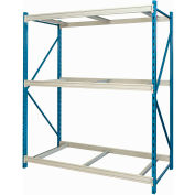 "Hallowell Bulk Rack 48""W x 48""D x 123""H Blue Uprights/Platinum Beams 3 Level Starter Unit-No Deck"