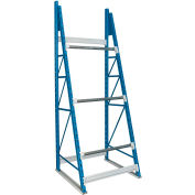 """Hallowell Cable Reel Rack 36""""W x 36""""D x 99""""H Blue Uprights/Platinum Beams 3 Level Starter Unit"""