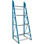 "Hallowell Cable Reel Rack 48""W x 36""D x 123""H Blue Uprights/Platinum Beams 4 Level Starter Unit"