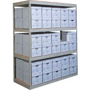 """Rivetwell dossier stockage rayonnage 42"""" W x 15 «D x 108» H 5 niveaux entrée w/o platelage Tan"""