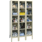 Hallowell USVP3226-5 Safety-View Plus Locker Five Tier 12x12x12 15 Doors Ready To Assemble Parchment