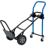 Harper™ JDCJ8523EN 3-in-1 Convertible Hand Truck - Solid Rubber & Nose Extension - 500 Lb. Cap