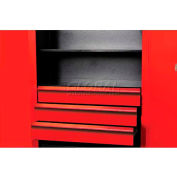 "Hallowell FKSCD36-3RR-HT Fort Knox Cabinet Drawer Kit - 3 Drawer, 36""W x 24""D x 18""H, Red"