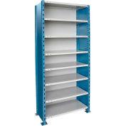 "Hallowell H-Post High Capacity Shelving 36""W x 24""D x 123""H 8 Adj Shelves Closed Style-Shelf Starter"