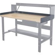 "Hallowell Workbench Back & End Stop Kit, 60""W x 30""D x 6""H"