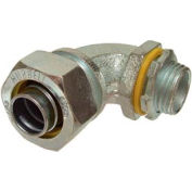 "Hubbell 3422 90 Degree Liquidtight Connector 1/2"" Trade Size - Pkg Qty 100"