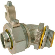"""Hubbell 3563 45 Degree Liquidtight Connector Insulated 3/4"""" Trade Size - Pkg Qty 25"""