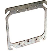 """Hubbell 791 4"""" Square Mud-Ring, For 2 Devices, Flat - Pkg Qty 50"""