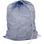 Mesh Bag W/ Drawstring Closure, Blue, 18x24, Medium Weight - Pkg Qty 12