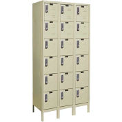 Hallowell UEL3288-6PT Knock-Down Electronic Access Locker Six Tier 3 Wide 12x18x13 - Tan