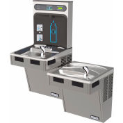 Halsey Taylor Bi-Level HydroBoost Water Refilling Station W/Filter, Light Gray, HTHB-HAC8BLPV-WF