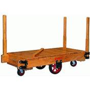 Hamilton® Tilt Truck 30 x 48 Solid Wood - Mold-on Rubber Wheels 2200 Lb. Cap.