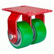 Hamilton® Heavy Service Rigid 5 x 2 Plastex Roller 2000 Lb. Dual Caster