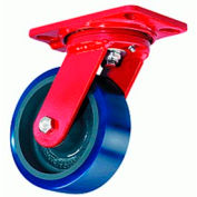Hamilton® Extra Heavy Service Swivel 8 x 2 Poly-Soft™ Ball 1200 Lb. Caster