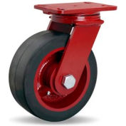 Hamilton® ForgeMaster™ Swivel 8 x 3 Mold-On Rubber Roller 840 Lb. Caster