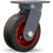 Hamilton® Super Endurance™ Kingpinless Swivel 8 x 3 Mold-On Rubber Roller 840 Lb. Caster
