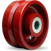 """Hamilton® V-Groove Wheel 6 x 2-3/4 - 1"""" Roller Bearing"""