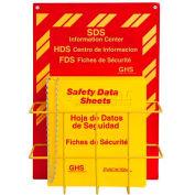 "Horizon Mfg. Tri Lingual SDS Binder and Safety Station, 3023, 3""W"