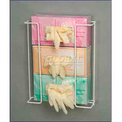 "Horizon Mfg. ""Space Saver"" Triple Box Exam Glove Dispenser Rack, 14""H x 11-1/4""W x 4""D"